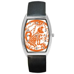 Chinese Zodiac Dog Barrel Style Metal Watch by Onesevenart