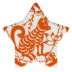 Chinese Zodiac Dog Star Ornament (two Sides)