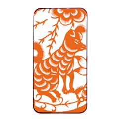 Chinese Zodiac Dog Apple Iphone 4/4s Seamless Case (black) by Onesevenart