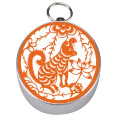 Chinese Zodiac Dog Silver Compasses by Onesevenart