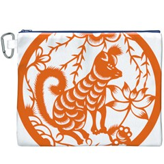 Chinese Zodiac Dog Canvas Cosmetic Bag (xxxl) by Onesevenart