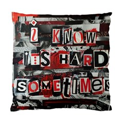 Top Lyrics   Twenty One Pilots The Run And Boys Standard Cushion Case (two Sides) by Onesevenart