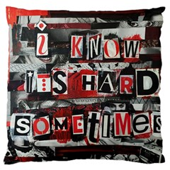 Top Lyrics   Twenty One Pilots The Run And Boys Large Flano Cushion Case (two Sides) by Onesevenart