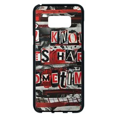 Top Lyrics   Twenty One Pilots The Run And Boys Samsung Galaxy S8 Plus Black Seamless Case