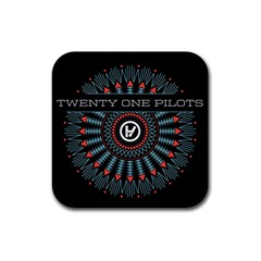 Twenty One Pilots Rubber Square Coaster (4 Pack)  by Onesevenart