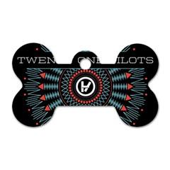 Twenty One Pilots Dog Tag Bone (two Sides) by Onesevenart