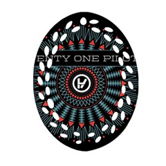 Twenty One Pilots Oval Filigree Ornament (two Sides) by Onesevenart
