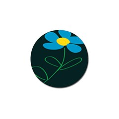 Whimsical Blue Flower Green Sexy Golf Ball Marker (4 Pack) by Mariart