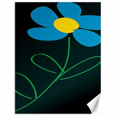 Whimsical Blue Flower Green Sexy Canvas 18  X 24   by Mariart