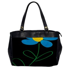 Whimsical Blue Flower Green Sexy Office Handbags by Mariart