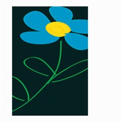 Whimsical Blue Flower Green Sexy Small Garden Flag (two Sides) by Mariart