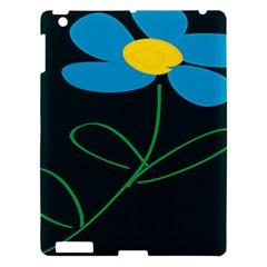 Whimsical Blue Flower Green Sexy Apple Ipad 3/4 Hardshell Case by Mariart