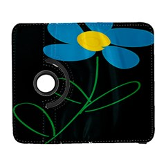 Whimsical Blue Flower Green Sexy Galaxy S3 (flip/folio) by Mariart