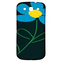Whimsical Blue Flower Green Sexy Samsung Galaxy S3 S Iii Classic Hardshell Back Case by Mariart