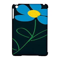 Whimsical Blue Flower Green Sexy Apple Ipad Mini Hardshell Case (compatible With Smart Cover) by Mariart