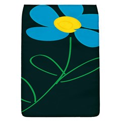 Whimsical Blue Flower Green Sexy Flap Covers (s)  by Mariart