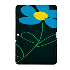 Whimsical Blue Flower Green Sexy Samsung Galaxy Tab 2 (10 1 ) P5100 Hardshell Case  by Mariart
