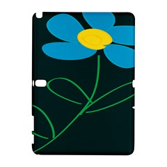 Whimsical Blue Flower Green Sexy Galaxy Note 1 by Mariart