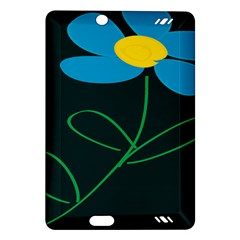 Whimsical Blue Flower Green Sexy Amazon Kindle Fire Hd (2013) Hardshell Case by Mariart