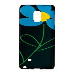 Whimsical Blue Flower Green Sexy Galaxy Note Edge by Mariart