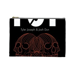 Twenty One Pilots Event Poster Cosmetic Bag (large)  by Onesevenart