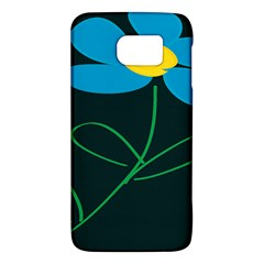 Whimsical Blue Flower Green Sexy Galaxy S6 by Mariart