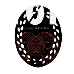 Twenty One Pilots Event Poster Oval Filigree Ornament (two Sides) by Onesevenart