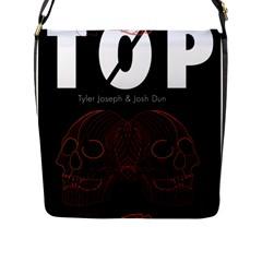 Twenty One Pilots Event Poster Flap Messenger Bag (l)  by Onesevenart