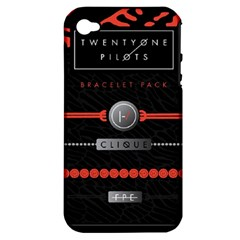 Twenty One Pilots Event Poster Apple Iphone 4/4s Hardshell Case (pc+silicone) by Onesevenart