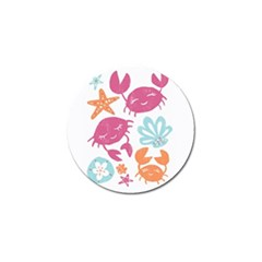 Animals Sea Flower Tropical Crab Golf Ball Marker (4 Pack) by Mariart