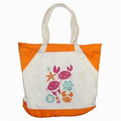 Animals Sea Flower Tropical Crab Accent Tote Bag by Mariart