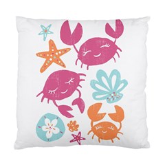 Animals Sea Flower Tropical Crab Standard Cushion Case (one Side) by Mariart