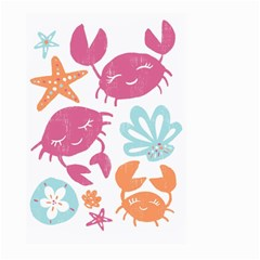 Animals Sea Flower Tropical Crab Large Garden Flag (two Sides) by Mariart