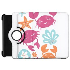 Animals Sea Flower Tropical Crab Kindle Fire Hd 7  by Mariart