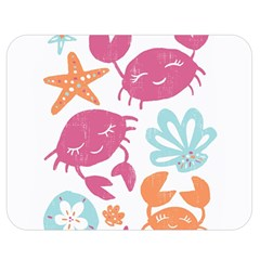Animals Sea Flower Tropical Crab Double Sided Flano Blanket (medium)  by Mariart