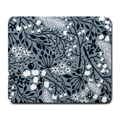 Abstract Floral Pattern Grey Large Mousepads by Mariart