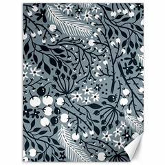 Abstract Floral Pattern Grey Canvas 36  X 48   by Mariart