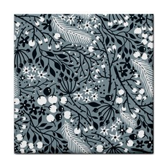 Abstract Floral Pattern Grey Face Towel by Mariart