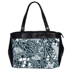 Abstract Floral Pattern Grey Office Handbags (2 Sides)  by Mariart