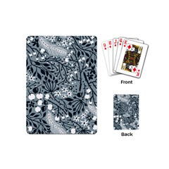 Abstract Floral Pattern Grey Playing Cards (mini)  by Mariart