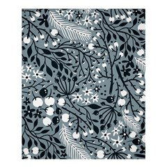 Abstract Floral Pattern Grey Shower Curtain 60  X 72  (medium)  by Mariart