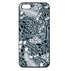 Abstract Floral Pattern Grey Apple Iphone 5 Seamless Case (black) by Mariart
