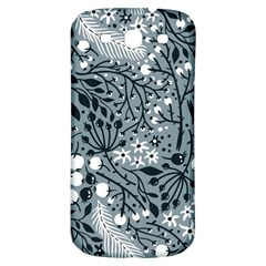Abstract Floral Pattern Grey Samsung Galaxy S3 S Iii Classic Hardshell Back Case by Mariart