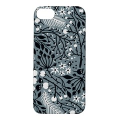 Abstract Floral Pattern Grey Apple Iphone 5s/ Se Hardshell Case by Mariart
