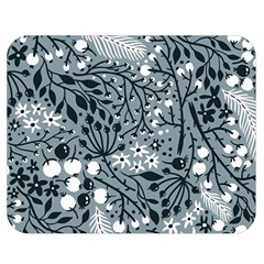 Abstract Floral Pattern Grey Double Sided Flano Blanket (medium)  by Mariart