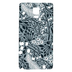 Abstract Floral Pattern Grey Galaxy Note 4 Back Case by Mariart