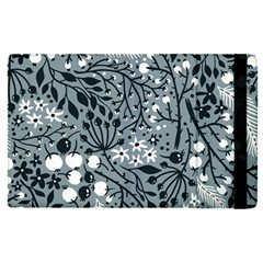 Abstract Floral Pattern Grey Apple Ipad Pro 12 9   Flip Case by Mariart