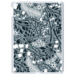 Abstract Floral Pattern Grey Apple Ipad Pro 9 7   White Seamless Case by Mariart