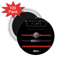 Twenty One Pilots Event Poster 2 25  Magnets (100 Pack)  by Onesevenart