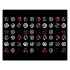 Digital Art Dark Pattern Abstract Orange Black White Twenty One Pilots Rectangular Jigsaw Puzzl by Onesevenart